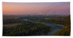 Sunset At Snake River Bath Towel