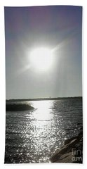 Sunset At Solomons Island Md Hand Towel