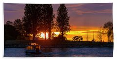 Sunset At Sunset Beach In Vancouver Bc Hand Towel