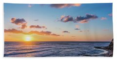 Sunset At Swami's Beach  Hand Towel