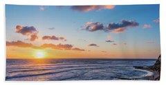 Sunset At Swami's Beach  Bath Towel
