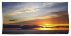 Hand Towel featuring the photograph Sunset At The Canary Island La Palma by Juergen Klust