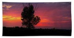 Sunset At The Danube Banks Hand Towel
