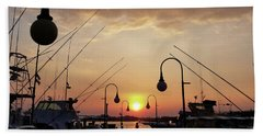 Sunset At The End Of The Talbot St Pier Hand Towel