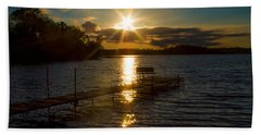 Sunset At The Lake Hand Towel