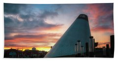 Sunset At The Museum Of Glass Hand Towel
