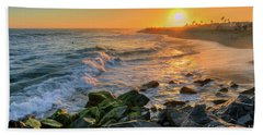 Sunset At The Wedge Bath Towel