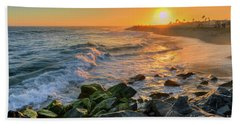 Sunset At The Wedge Hand Towel