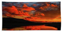 Sunset At Wallkill River National Wildlife Refuge Bath Towel by Raymond Salani III