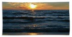 Sunset At Wasaga Beach June 21-2017  Hand Towel