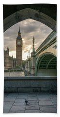 Sunset At Westminster Hand Towel