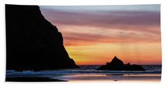 Sunset At Whalehead Beach Hand Towel