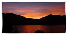 Sunset At Woodhead Campground  Hand Towel