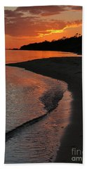 Hand Towel featuring the photograph Sunset Bay by Lori Mellen-Pagliaro