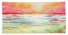 Sunset Beach Hand Towel by Jeremy Aiyadurai