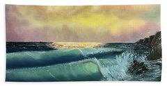Sunset Beach Bath Towel by Thomas Janos