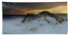 Sunset Behind The Sand Dune Bath Towel