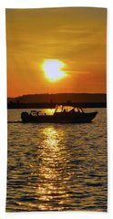 Sunset Boat Bath Towel