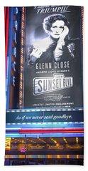 Sunset Boulevard On Broadway Hand Towel
