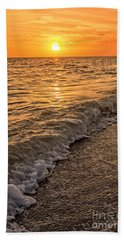 Sunset Bowman Beach Sanibel Island Florida  Hand Towel
