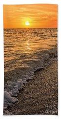 Sunset Bowman Beach Sanibel Island Florida  Bath Towel