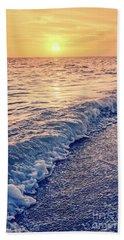 Bath Towel featuring the photograph Sunset Bowman Beach Sanibel Island Florida Vintage by Edward Fielding