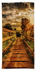 Sunset Bridge Hand Towel