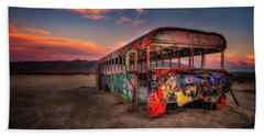 Sunset Bus Tour Bath Towel
