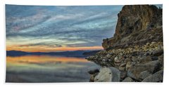 Sunset Cave Rock 2015 Bath Towel
