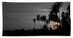 Hand Towel featuring the photograph Sunset by Charlie Roman