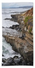 Sunset Cliffs San Diego Portrait Bath Towel