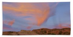 Sunset Clouds, Badlands Bath Towel
