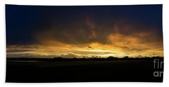 Hand Towel featuring the photograph Sunset Clouds by Brian Jones