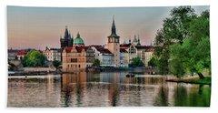 Sunset Cruise Prague Bath Towel