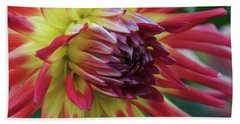 Sunset Dahlia Bath Towel