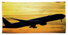 Sunset Departure From Dfw Bath Towel