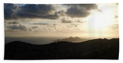 Sunset Dragon Island Hand Towel