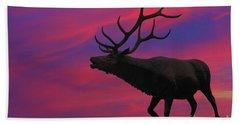 Sunset Elk Hand Towel