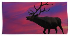 Sunset Elk Bath Towel by Randy Steele