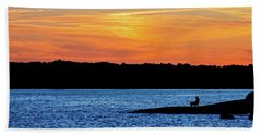 Sunset Fisherman  Hand Towel