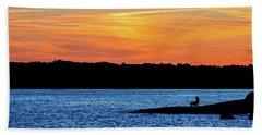 Sunset Fisherman  Bath Towel