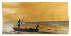 Sunset Fishing Bath Towel