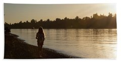 Sunset Fishing Hand Towel