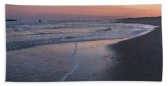 Hand Towel featuring the photograph Sunset Fishing Seaside Park Nj by Terry DeLuco