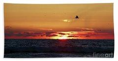 Sunset Flight Hand Towel by Nicki McManus