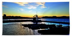 Bath Towel featuring the photograph Sunset From Pier 39 - San Fransisco by Glenn McCarthy Art and Photography