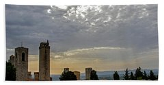 Sunset From San Gimignano Hand Towel by Jean Haynes