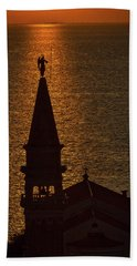 Hand Towel featuring the photograph Sunset From The Walls #2 - Piran Slovenia by Stuart Litoff