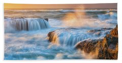 Bath Towel featuring the photograph Sunset Fury by Darren White