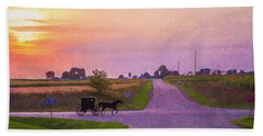Bath Towel featuring the photograph Sunset Gallop by Joel Witmeyer